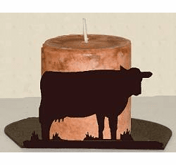 Cow Silhouette Candle Holder