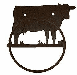 Cow Towel Ring