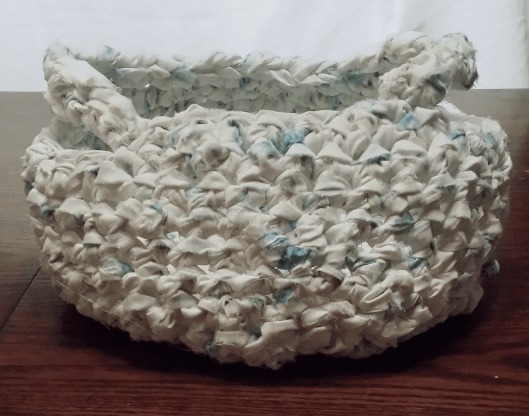 Crochet Basket, Side Handle