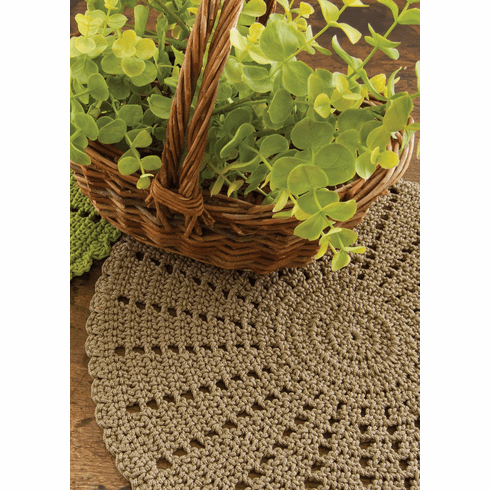 Crocheted Doily/Charger, set of 2