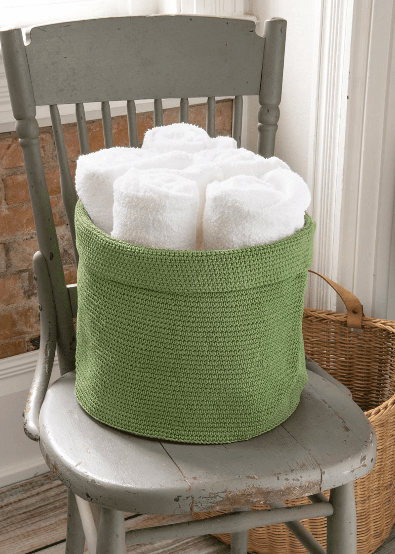Crocheted EXTRA LARGE Round Basket with Loop