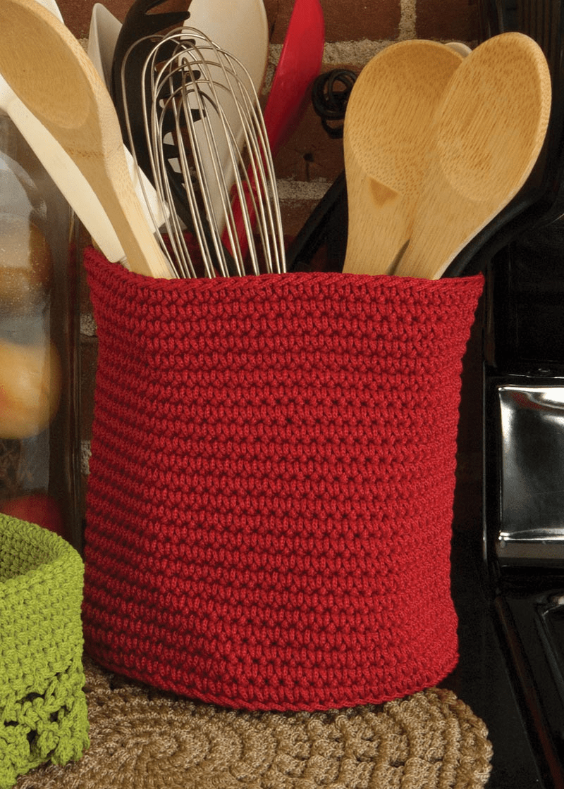 Crocheted LARGE Round Basket with Loop