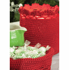 Crocheted MEDIUM Round Basket with Crochet Edge, set of 2