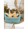 Crocheted SMALL Rectangular Basket, set of 2