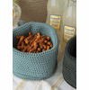 Crocheted SMALL Round Basket with Loop, set of 2