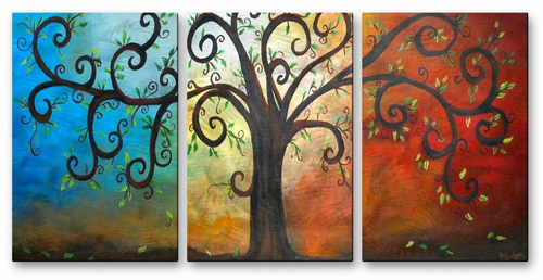 Curly Tree Metal Wall Hanging