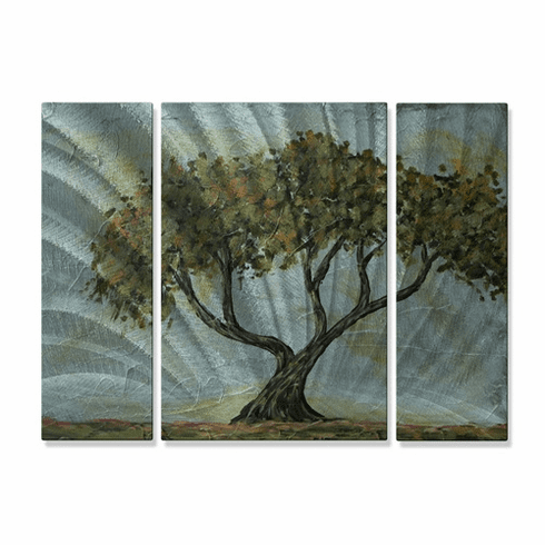 Cypress Tree Metal Wall Hanging