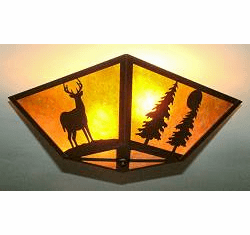 Deer and Tree Square Ceiling Light