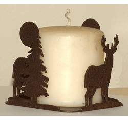 Deer Four Sided Candle Holder