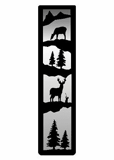 Deer Large Accent Mirror Wall Art