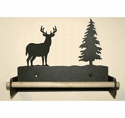 Deer Paper Towel Holder with Wood Bar