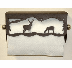 Deer Scenery Paper Towel Holder
