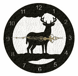 Deer Smooth Edge Rustic Clock