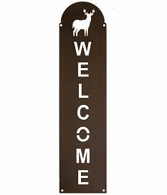 Deer Vertical Welcome Sign in 2 Sizes