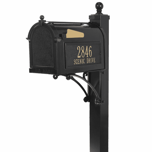 Deluxe Capitol Mailbox Package in Black