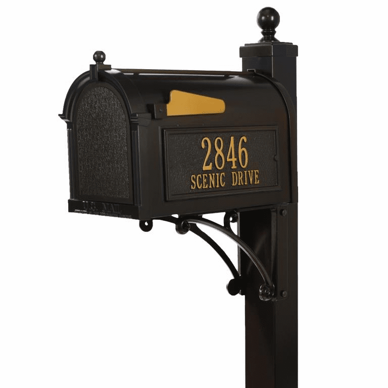 Deluxe Capitol Mailbox Package in Bronze