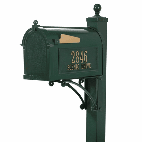Deluxe Capitol Mailbox Package in Green