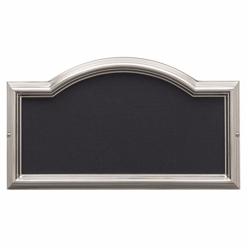 Design-It 4 inches Arch Plaque Brushed Nickel