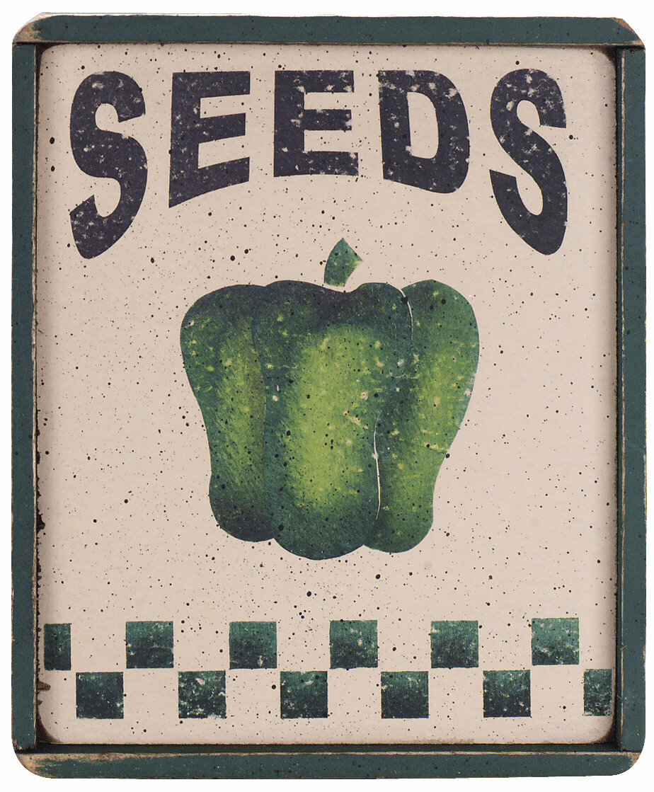 Dining Room Decor - Seed Packet (Pepper)