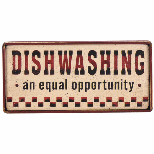 Dish Washing - Equal Opportunity