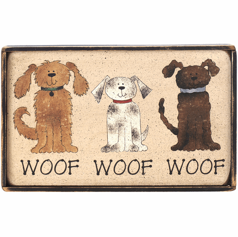 Dog Lover Gift - Woof, Woof, Woof