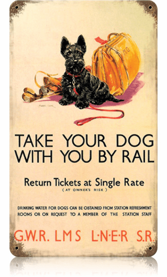 Dog Train Sign