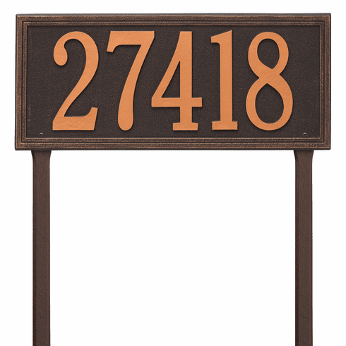 Double Line Estate Lawn One Line Plaque in Oil Rubbed Bronze