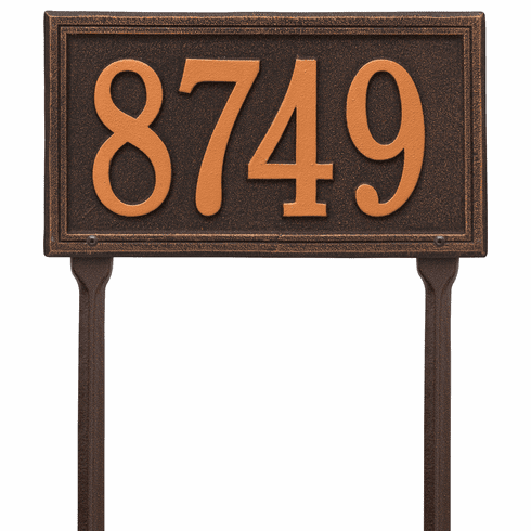 Double Line Standard Lawn One Line Plaque in Oil Rubbed Bronze