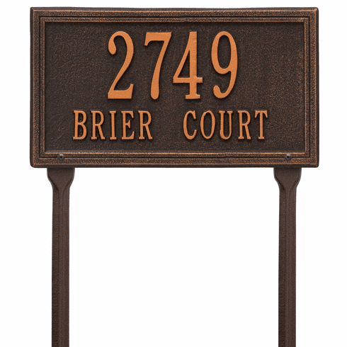 Double Line Standard Lawn Two Line Plaque in Oil Rubbed Bronze