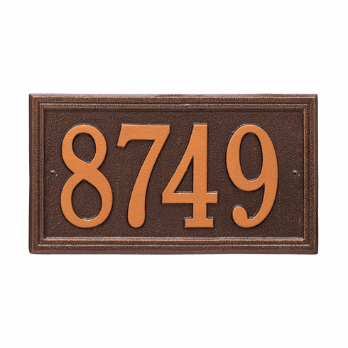 Double Line Standard Wall One Line Plaque in Antique Copper