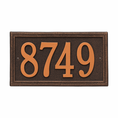 Double Line Standard Wall One Line Plaque in Oil Rubbed Bronze