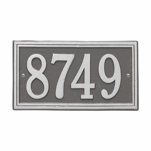 Double Line Standard Wall One Line Plaque in Pewter and Silver