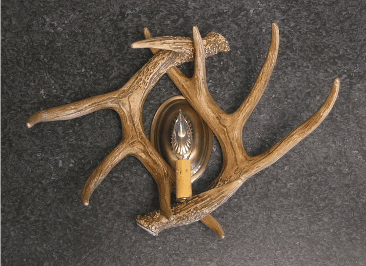 Double Whitetail Antler Wall Sconce - Bathroom Light
