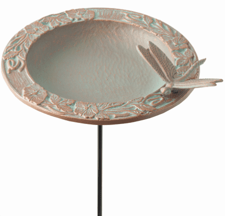 Dragonfly Garden Bird Feeder - Copper Verdigris