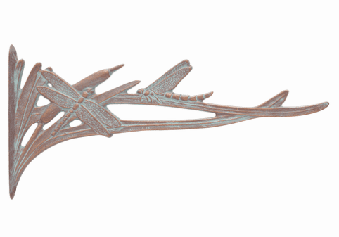 Dragonfly Nature Hook - Copper Verdigris