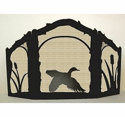 Duck in Flight Fireplace Screen - Arched Top