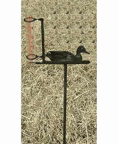 Duck on Pond Design Rain Gauge - Duck and Cattails