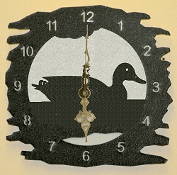 Duck Rough Edge Wall Clock