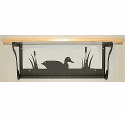 Duck Rustic Towel Bar with Shelf