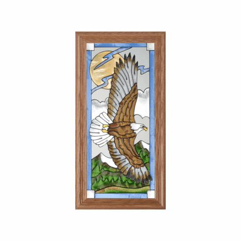 Eagle in Flight Stained Glass Art Glass