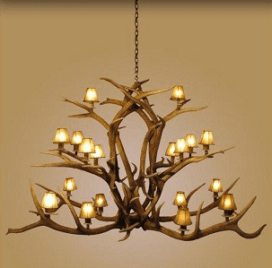 Elk Antler Majestic 18 Light Chandelier