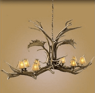 Elk/Fallow Deer 8 Light Chandelier