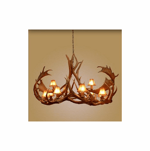 Elk/Fallow Elongated Cadillac 10 Light Chandelier