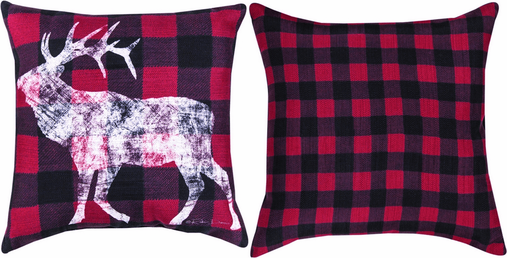 Elk Mountain Reversible Pillow with Piping