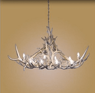 Elk/Mule Deer Oval 10 Light Chandelier