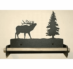 Elk Paper Towel Holder with Wood Bar