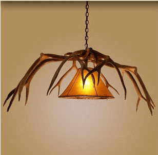 Elk Single Light Hanging Lamp with Shade