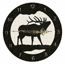Elk Smooth Edge Rustic Clock