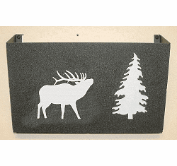 Elk Wall Mount Magazine Rack