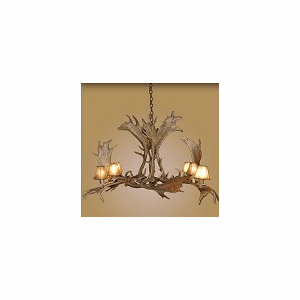 Elongated Fallow 8 Light Chandelier